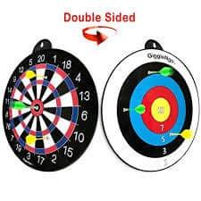 GIGGLE N GO Reversible Magnetic Dart Board For Kids