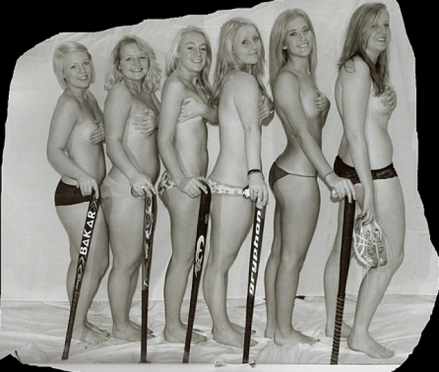 Topless Field Hockey Girls College Team Hockey Goddesses