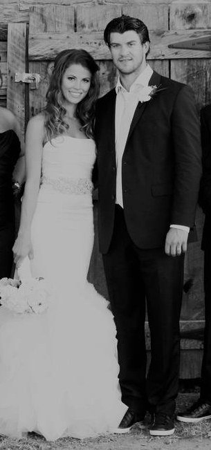 Brent Seabrook with his bride  Dayna Seabrook  2012