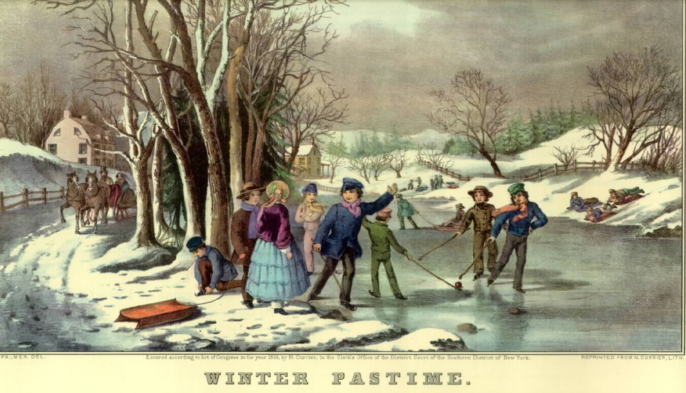Currier And Ives Hockey Lithograph Print 1800s HockeyGods