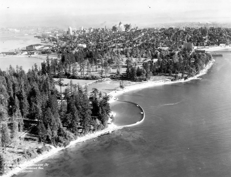 Denman Arena - Vancouver Beach Aerial