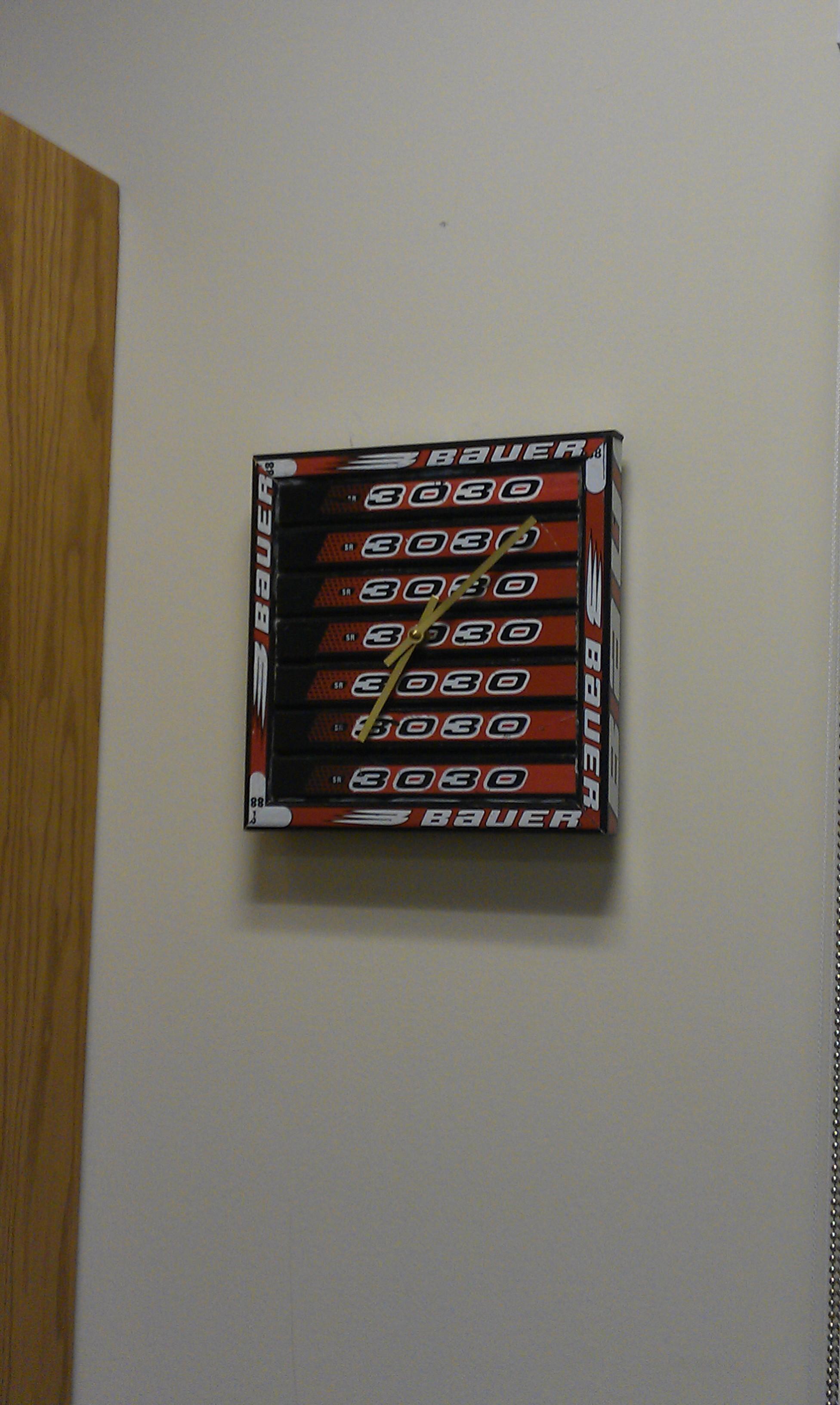 stick wall clock hockey