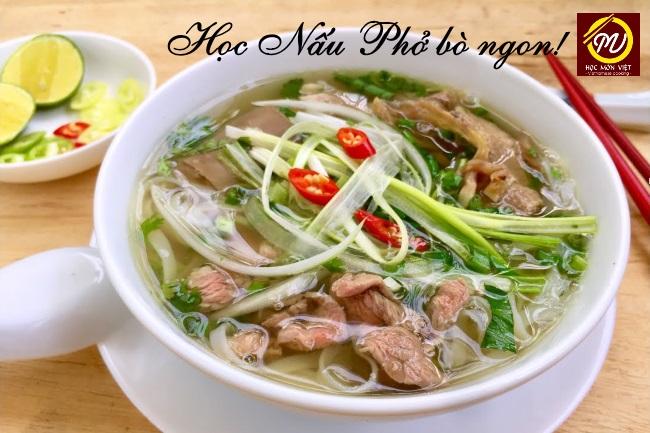 học nấu phở bò ngon - Học Món Việt