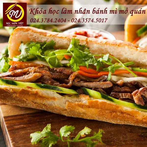 khóa học làm nhân bánh mì mở quán - Học Món Việt