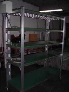 騰越輸送機械-工作桌,皮帶輸送機,鋁擠型臺車