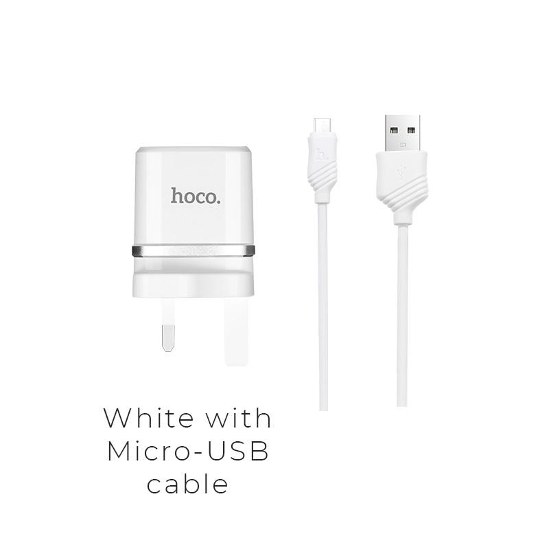 """Wall charger """"C12B Smart"""" UK plug dual USB charging"""