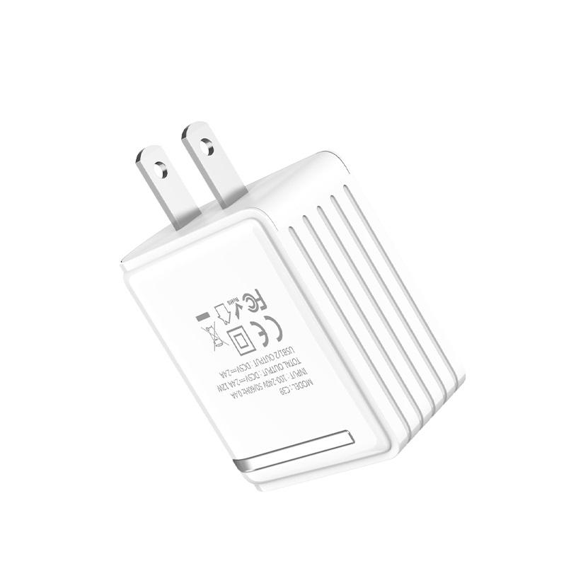"""Wall charger """"C39 Enchanting"""" US dual USB charging adapter"""