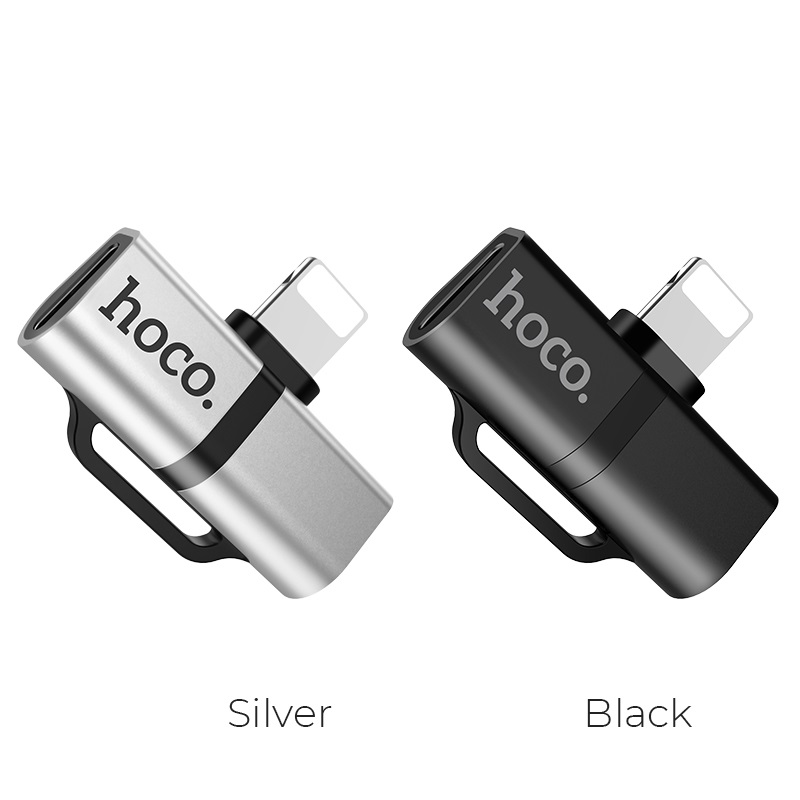hoco ls20 apple dual lightning digital audio converter colors