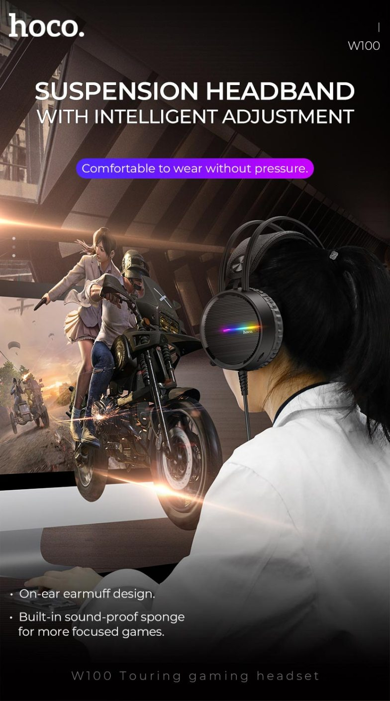 Hoco W100 Gaming Headphone With Mic