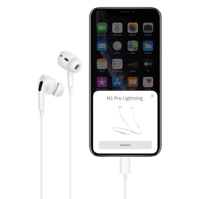 hoco m1 pro original series earphones for lightning connection