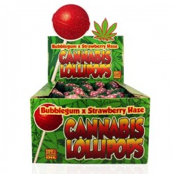 CANNABIS LOLLIPOPS BUBBLEGUM X STRAWBERRY 3 Stk 1