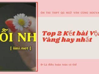 Top 2 Kết bài Vội Vàng hay nhất