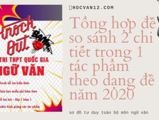 Tổng hợp đề so sánh 2 chi tiết trong 1 tác phẩm theo dạng đề năm 2020