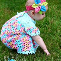 Vintage Dress & Diaper Cover