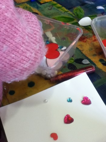 Crafts: Making Valentine's Day cards with toddlers