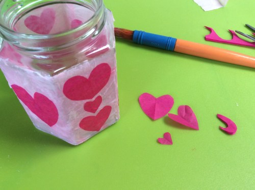 Crafting: Making a Découpage Lantern for Valentine's Day