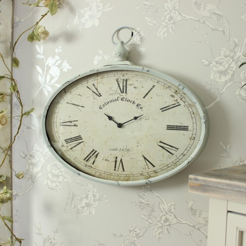 Win a Vintage Oval Pocket Watch Style Wall Clock from Windsor Browne