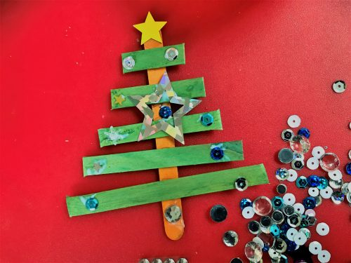 Crafts: How to make lolly stick Christmas decorations