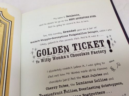 My Golden Ticket- A Beautiful Personalised Roald Dahl Book