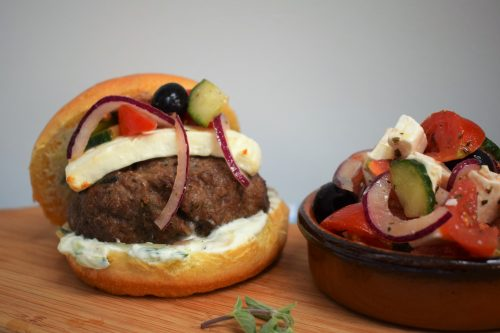 Recipe: Bifteki - Cretan Style Lamb Burger with Feta Copyright Jane Arschavir HodgePodgeDays