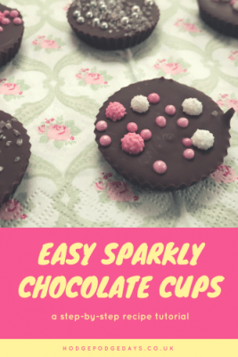 Easy Recipe: Sparkly Chocolate Cups for Mother's Day