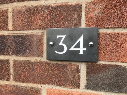 Giveaway & Review: A New Stylish Slate House Number