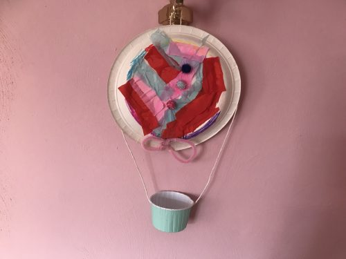 Crafts: Simple Paper Plate Hot Air Balloons