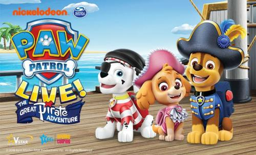Catch The PAW Patrol Live Great Pirate Adventure this Summer