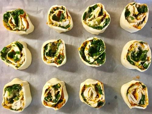 Recipe: Spinach, Pesto and Mozzerella Pinwheels