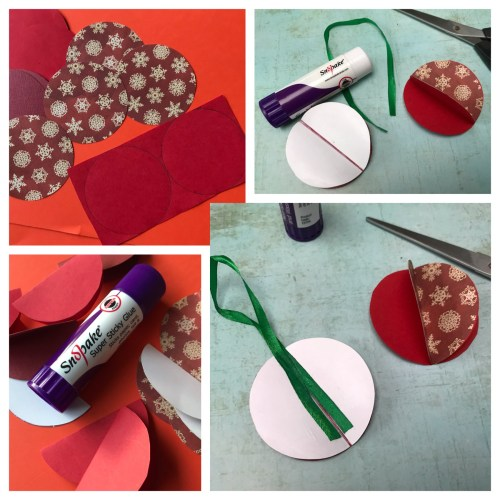 Christmas Crafts: How to make Pretty Paper Baubles