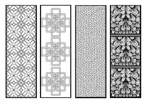 FREE Printable: Bookmarks for Adult Colouring
