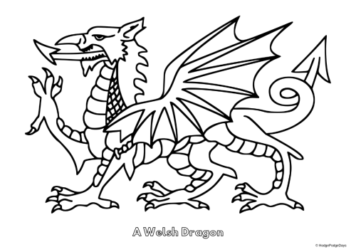 FREE Printables: St David's Day Colouring