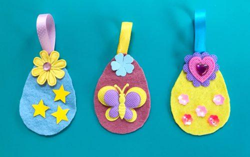 Easter Crafts: Felt Easter Egg Decorations