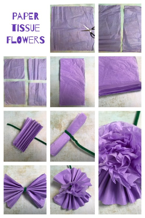 Flower Crafts: Simple Tissue Paper Flowers