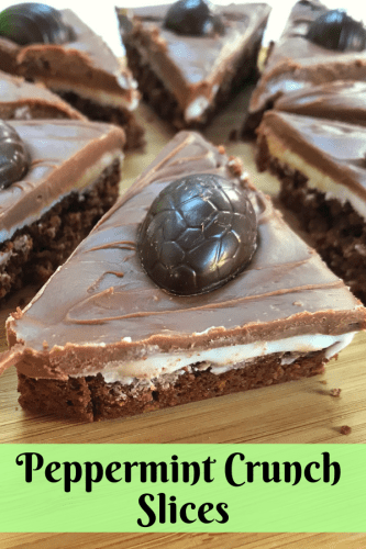 Easter Treats: Peppermint Crunch Slices