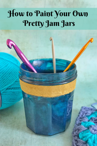 Recycled Crafts: How to Paint Your Own Pretty Jars