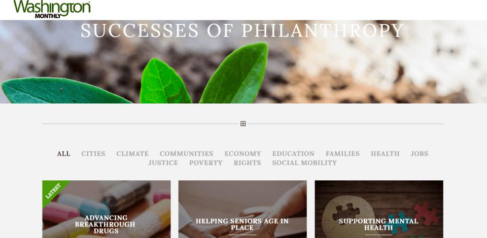 Successes of Philanthropy