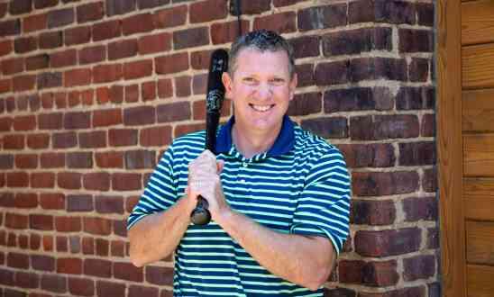 Sean Ryan with a baseball bat