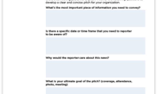 Media Pitching Tips and Template