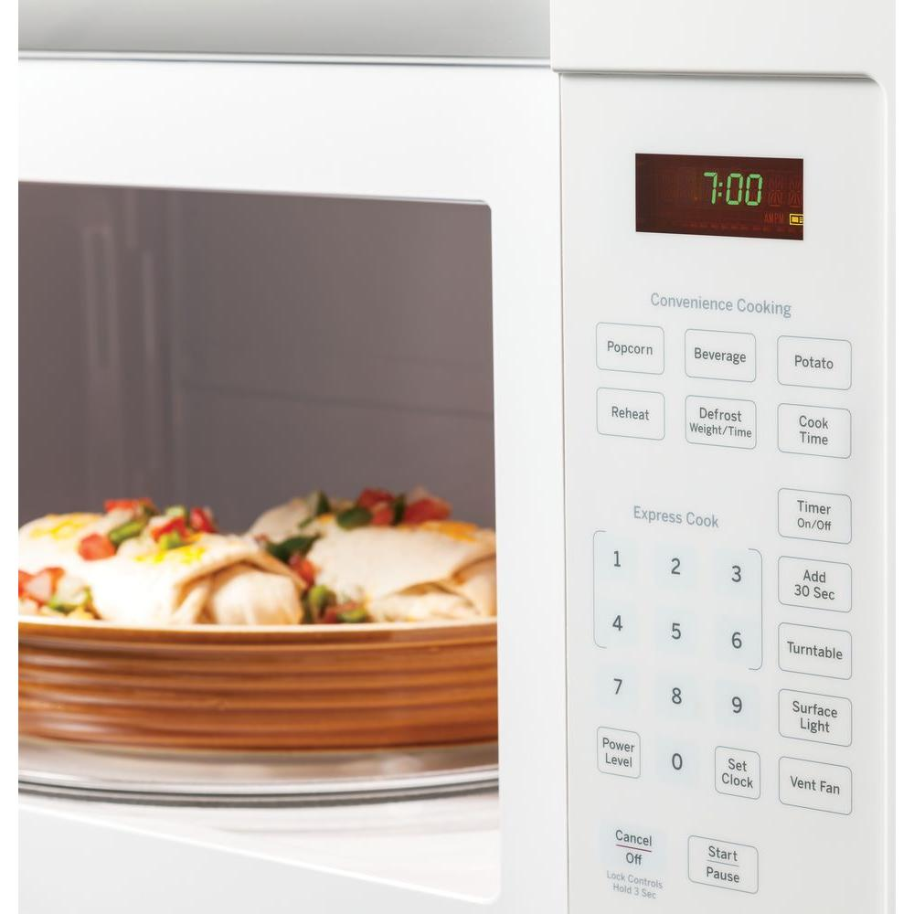 ge 1 6 cu ft over the range microwave in white
