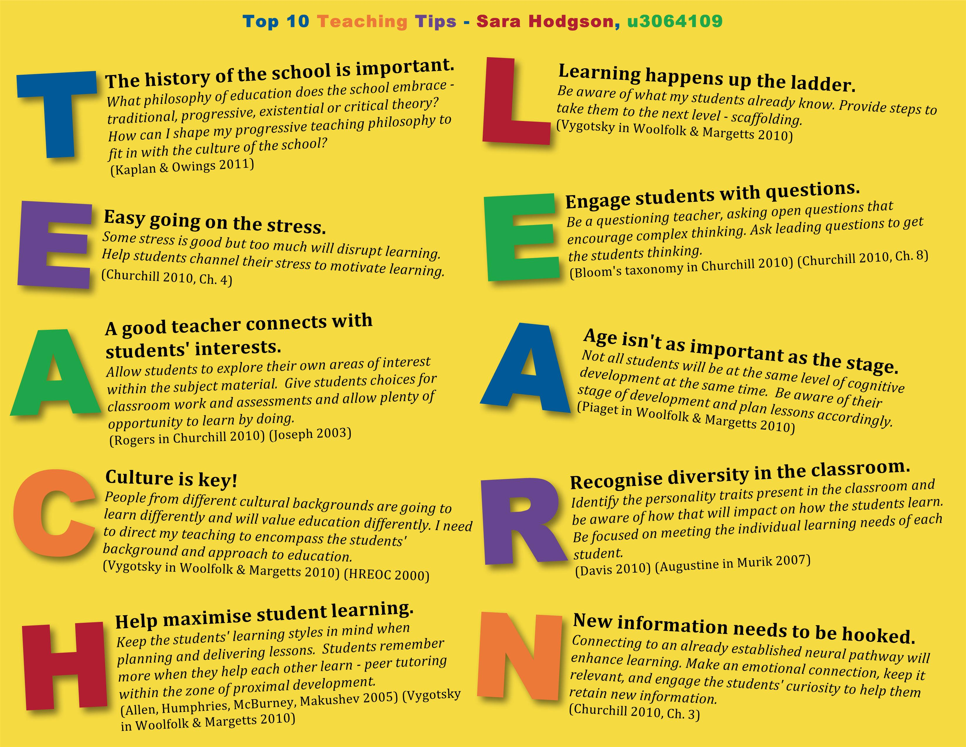 Teaching Tips Poster