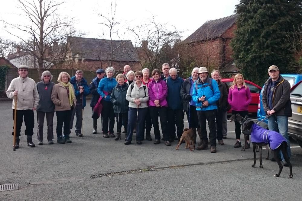 Hodnet Footpath Group Walk 3 April 2016