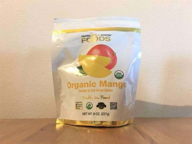 California Gold Nutrition, オーガニックマンゴー、そのまま食べれるドライスライス、227g