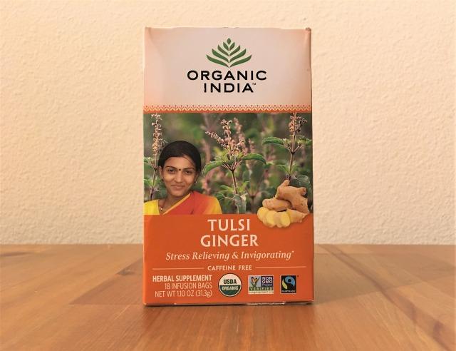Organic India, トゥルシーティー、ジンジャー、カフェインフリー
