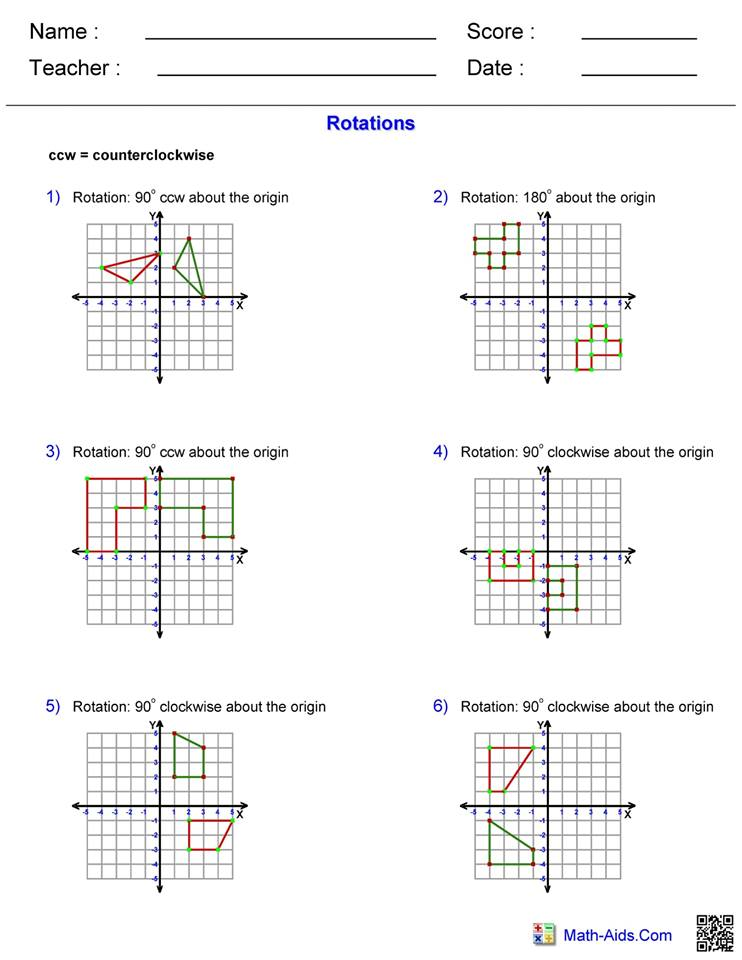 Rotations answers