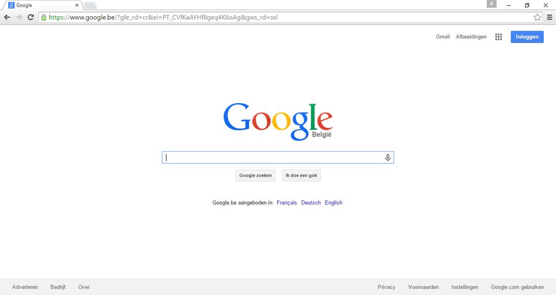 Hoe google instellen als standaard zoekmachine? ( google