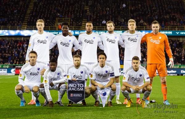 Club Brugge against FC Copenhagen in UEFA Euro League at Jan Breydelstadion in Brugge, 2014