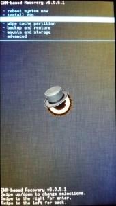 ClockWorkMod Sony Xperia J