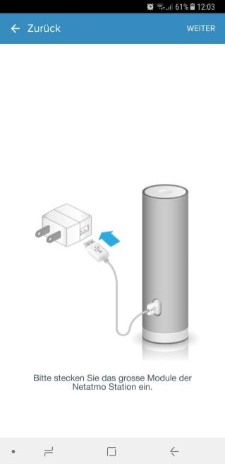 Hauptstation mit Strom verbinden