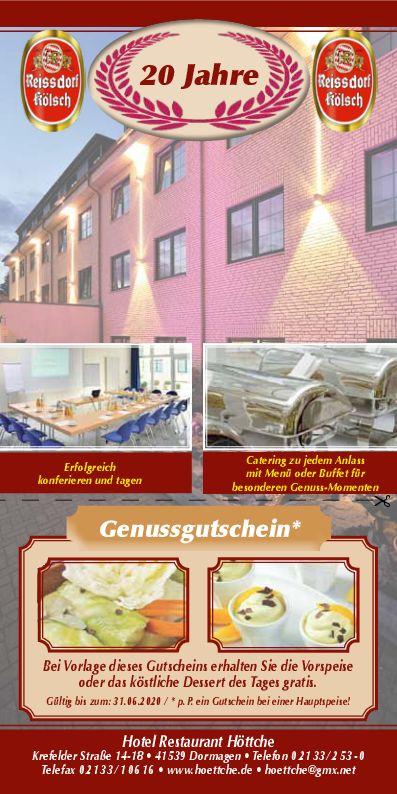 Veranstaltungen 2020, Hotel Höttche